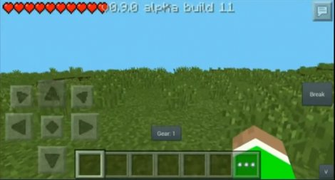 Sprint mod for Minecraft Pocket Edition 0.9.0