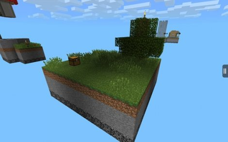 Map for Minecraft Pocket Edition Skypiea - floating archipelago of 17 islands!