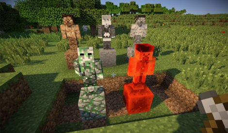 Statues Mod for Minecraft 1.7.10
