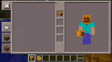 Mod on a pumpkin on his head for Minecraft PE 0.9.4 - 0.9.5
