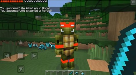 Minecraft PE 0.9.5 - Mod Super Ninja Turtles!