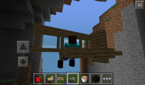 plane mod v1 Alpha for Minecraft PE 0.9.5