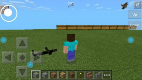 radio-controlled airplane mod in Minecraft PE 0.9.5