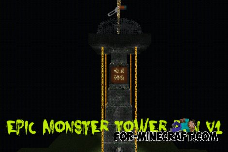 Epic Monster Tower Run map for Minecraft PE 0.10.0
