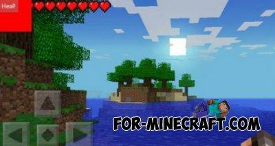 Heal Botton mod for Minecraft PE 0.9.5