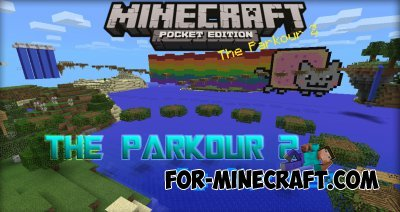 The Parkour 2 map for Minecraft PE 0.10.0