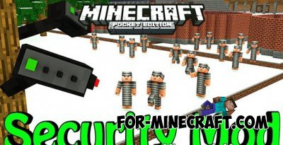 CCTV Security Camera mod for Minecraft PE 0.10.0