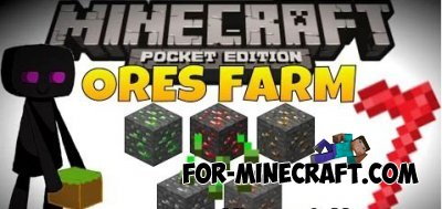 Ore Farm mod for Minecraft PE 0.10.0