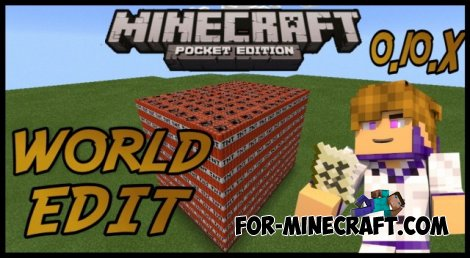 World Edit mod for Minecraft PE 0.10.X