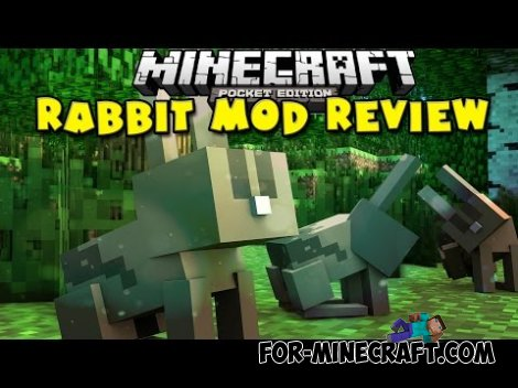 Rabbit mod for Minecraft PE 0.10.0, 0.10.2, 0.10.3