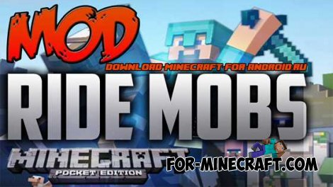 Ride Any Mob mod for Minecraft Pocket Edition 0.10.0