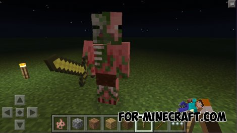 MCPE 0.11.0: Mask of pigs and and skin!