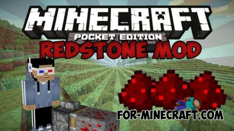 «Redstone» mod for Minecraft PE 0.10.0