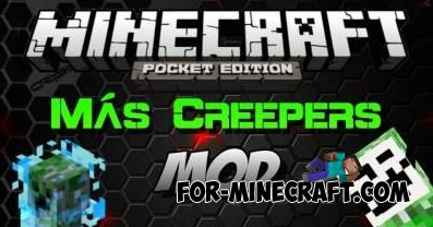 More Creepers mod for Minecraft 0.10.4