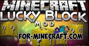 Lucky block mod for Minecraft PE 0.10.4