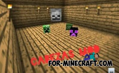 Cabezas mod for Minecraft Pocket Edition 0.10.4