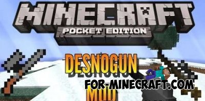 DesnoGuns Mod for Minecraft PE 0.10.0 - 0.10.4