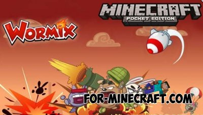 Wormix mod for Minecraft PE 0.10.4