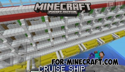 GIANT CRUISE SHIP map for Minecraft Pocket Edition