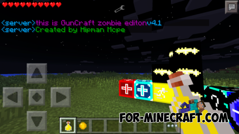 GunCraft Zombie Edition mod for Minecraft PE 0.10.4
