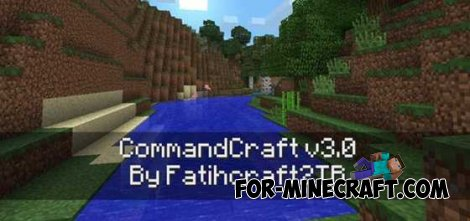 CommandCraft mod for Minecraft Pocket Edition 0.10.4