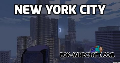 New York City 3005 map for Minecraft Pocket Edition 0.10.4
