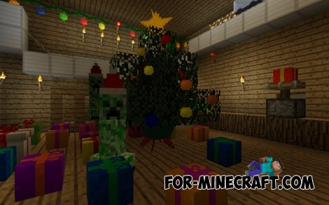 Christmas Decorations mod for Minecraft Pocket Edition 0.10.4