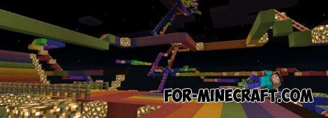 Rainbow Road v3.1 map for Minecraft Pocket Edition 0.10.4