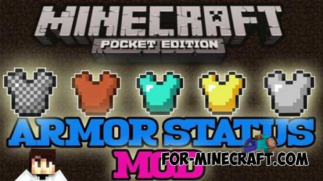 ARMOR STATUS mod for Minecraft PE 0.10.4