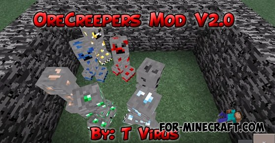Minecraft Creeper Mod Ore Creepers Mod For Minecraft