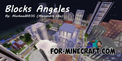 Blocks Angeles map for Minecraft PE