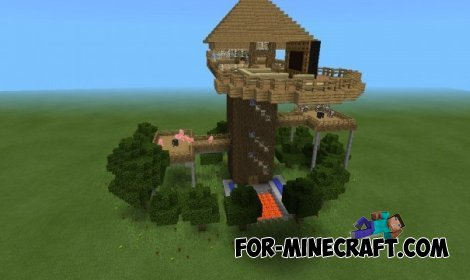 Tree House map for Minecraft PE 0.10.5, 0.10.4