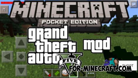 GTA V mod for Minecraft PE 0.10.4