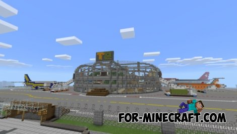 Minecraft Airport 2014 map for Minecraft PE 0.10.4