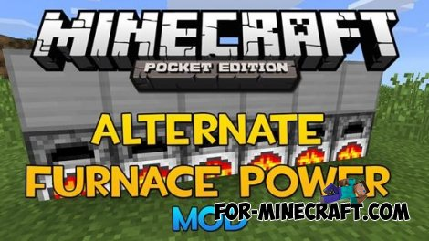 Alternate Furnace Power mod for Minecraft PE 0.10.4