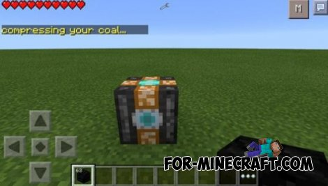 Diamond Compressor mod for Minecraft PE 0.10.4