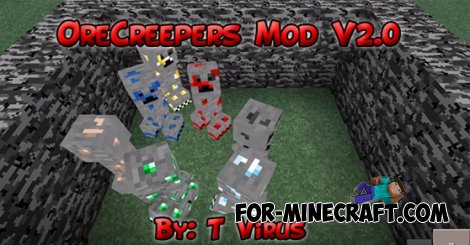 Ore Creepers mod for Minecraft Pocket Edition 0.10.5