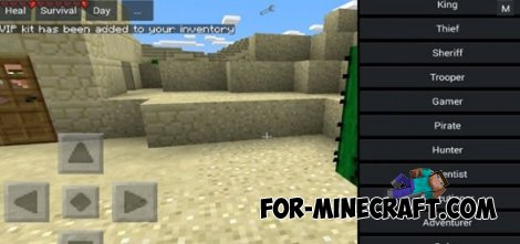 Kits Mod V5.1 for Minecraft PE 0.10.5