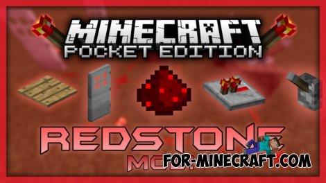 Redstone mod V 3.0 for Minecraft PE 0.10.5
