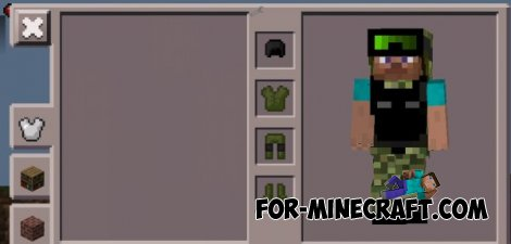 Military Armor mod for Minecraft PE 0.10.4 / 0.10.5