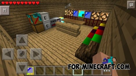 Furniture mod for Minecraft Pocket Edition 0.10.5