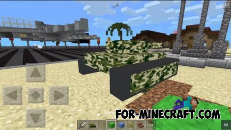 Tank mod for Minecraft Pocket Edition 0.10.5