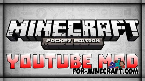 WATCH YOUTUBE mod for MCPE 0.10.5