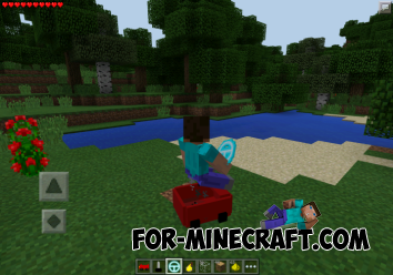Car mod for Minecraft PE 0.10.5