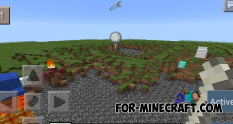 Snow Gun mod for Minecraft Pocket Edition 0.10.5