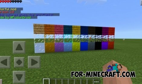 Colorful Iceplanks and glass mod for MCPE 0.10.5