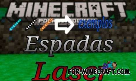 Laser swords mod for Minecraft PE 0.10.5