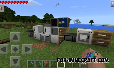 Furniture u s mod for minecraft pe page 2 for Modern house minecraft pe 0 12 1