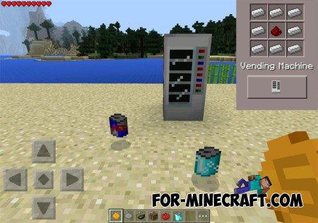 Vending machines mod for MCPE 0.10.5