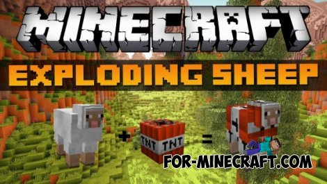 Explosive Sheep mod for MCPE 0.10.5